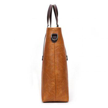 Women's Three-Piece Messenger Lady Portable Shoulder Small Bag - LIGHT BROWN
