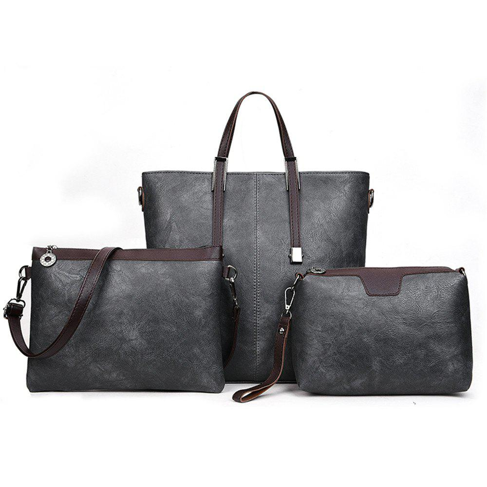 Women's Three-Piece Messenger Lady Portable Shoulder Small Bag - LIGHT GRAY