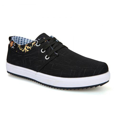 428a6248b58 Men s Sneakers Lace Up Canvas Shoes Breathable Stylish Lacing All Match Non-Slip  Shoes -