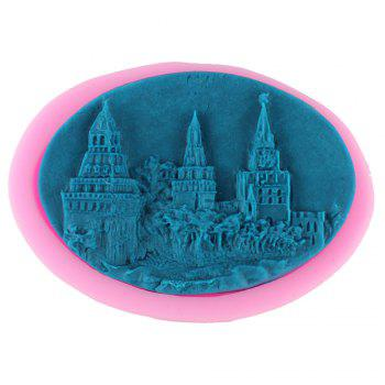 Castle Modeling Handmade Soap Cake Decorating Mold - PINK