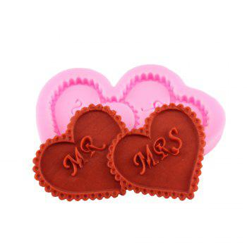 A Pair of Loving Silicone Fondant Cake Mold - PINK PINK