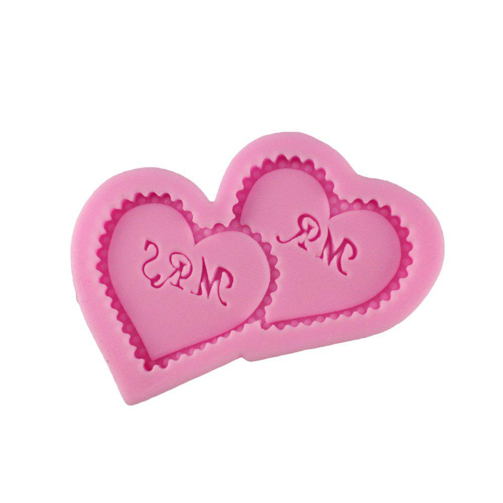 A Pair of Loving Silicone Fondant Cake Mold - PINK