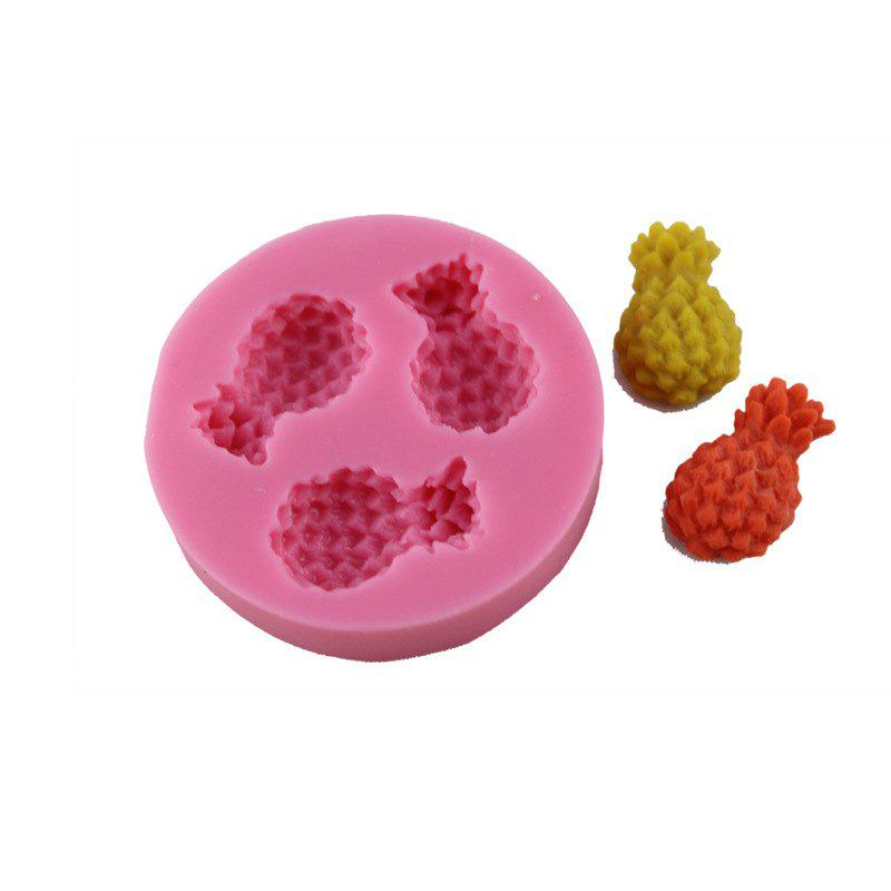 Pineapple Fruit Silicone Fondant Three-Dimensional Cake Mold - PINK