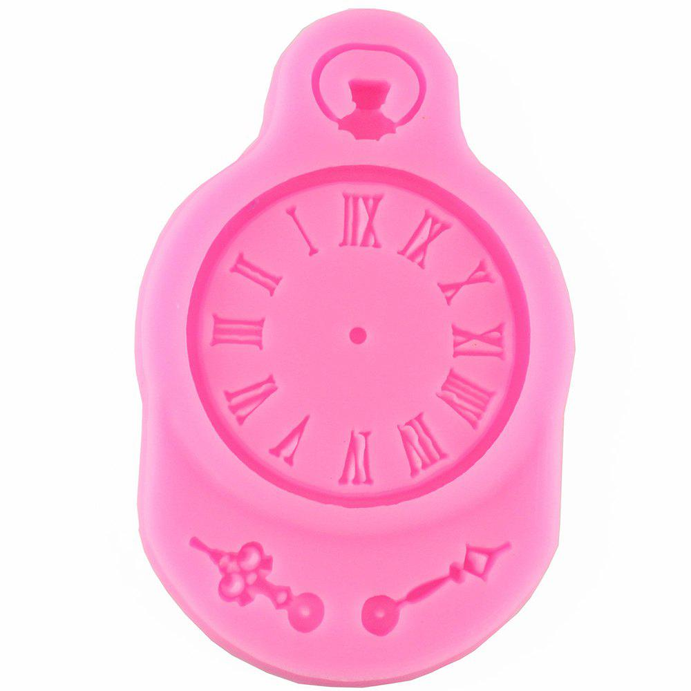 Watch Silicone Baking Tools Clock Chocolate Fondant Mold - PINK