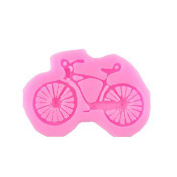 Bike Silicone Bicycle Cake Fondant Silicone Mold - PINK PINK