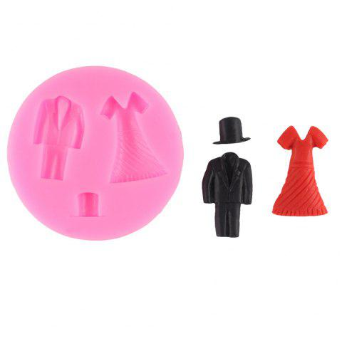 Men and Women Dress Silicone Baking Mold - PINK