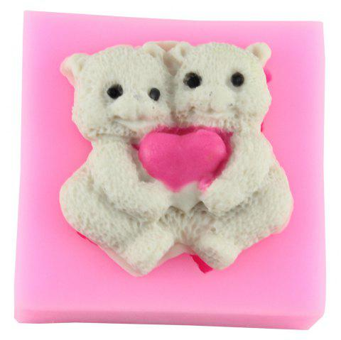 Sweet Love Bear Modeling Silicone Mold - PINK