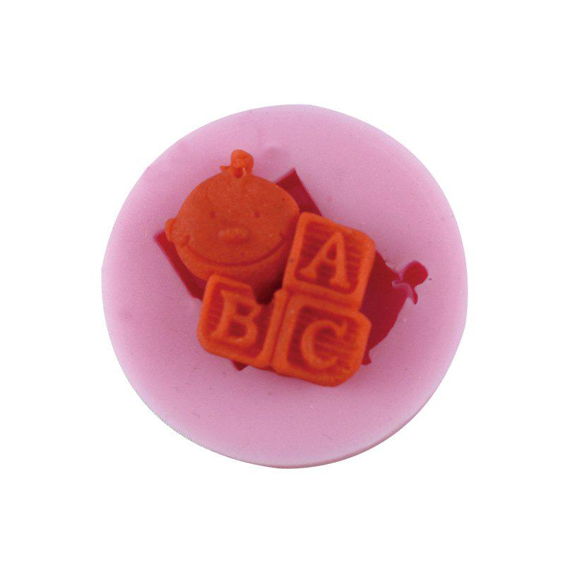 Letter Silicone Fudge Cake Mold - PINK