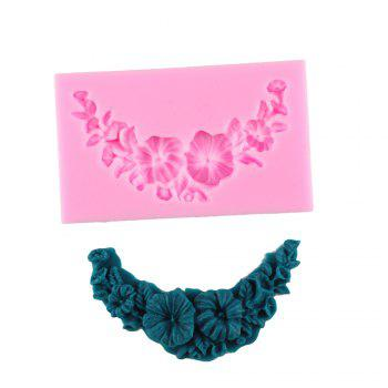 Flowers and Leaves Silicone Fondant Mold - PINK PINK