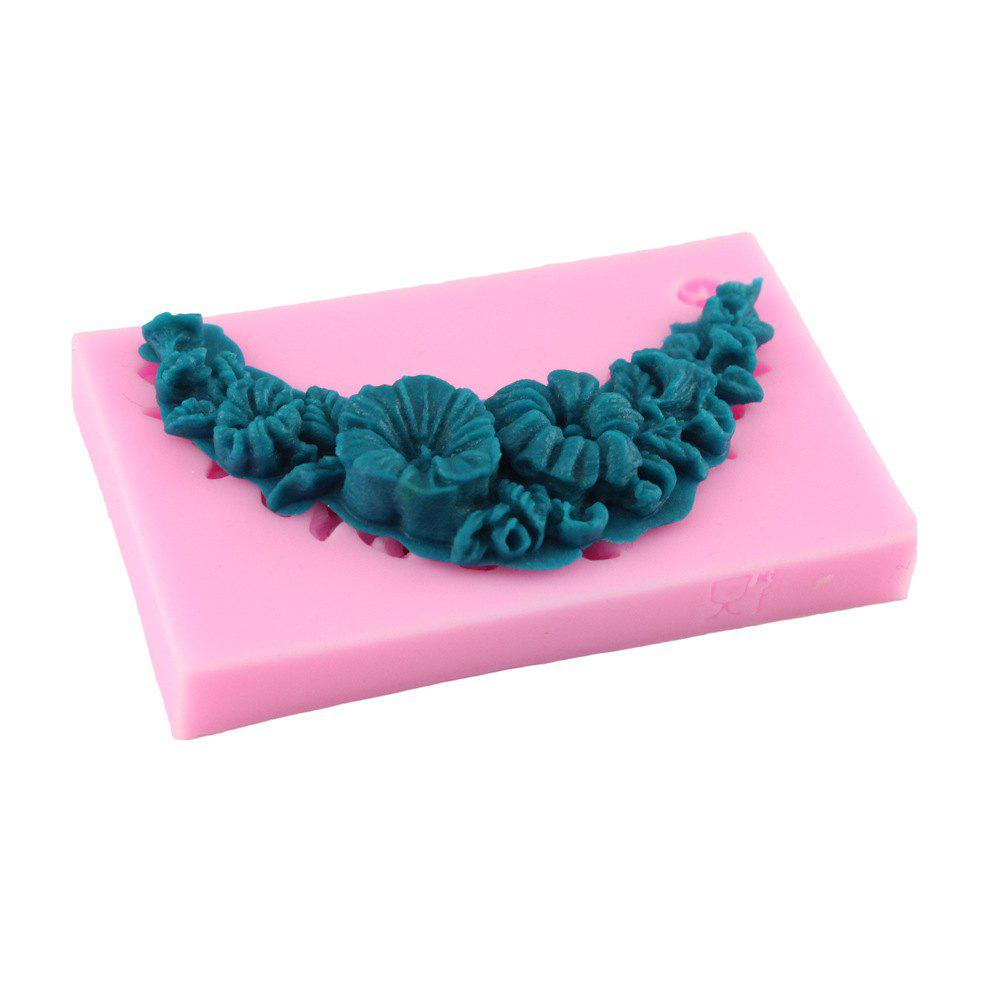 Flowers and Leaves Silicone Fondant Mold - PINK