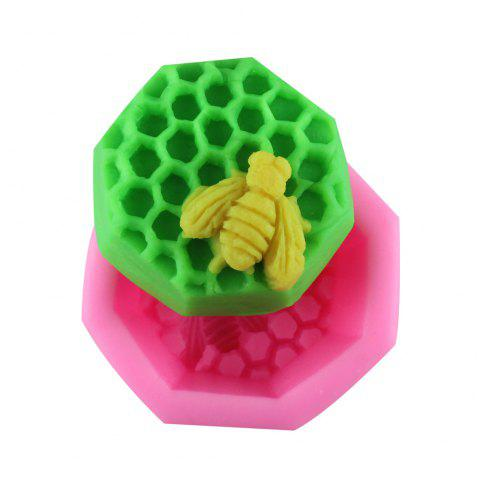 Bee Honeycomb Silicone Fondant Mold - PINK