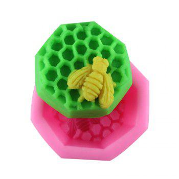 Bee Honeycomb Silicone Fondant Mold - PINK PINK