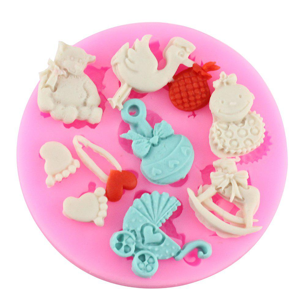 Fawn Silicone Fondant Chocolate Mold Baking Model - PINK