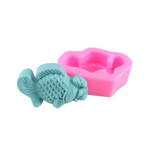 Fish Fondant Pope Biscuit Cake Decorating Mold - PINK