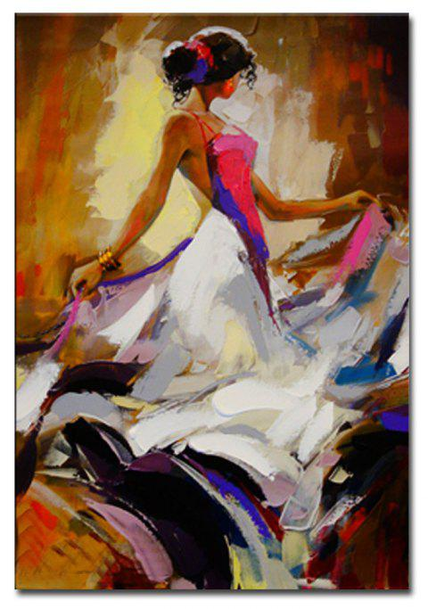 Hand Painted Abstract Figure Art Canvas Painting Dancer Oil Painting Wall Decoration - COLORMIX 24 X 36 INCH (60CM X 90CM)