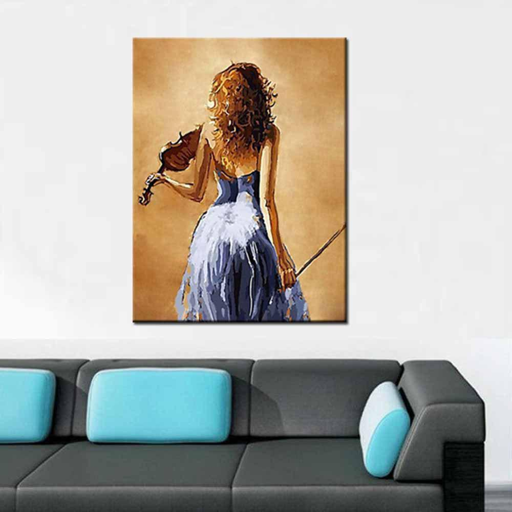Hand Painted Modern Abstract Figure Art Sexy Girl Canvas Oil Painting Living Room Bedroom Home Wall Decor - COLORMIX 24 X 36 INCH (60CM X 90CM)
