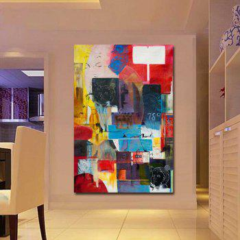 Hand Painted Modern Abstract Design Wall Oil Painting Wall Decoation Frameless - COLORMIX 24 X 36 INCH (60CM X 90CM)