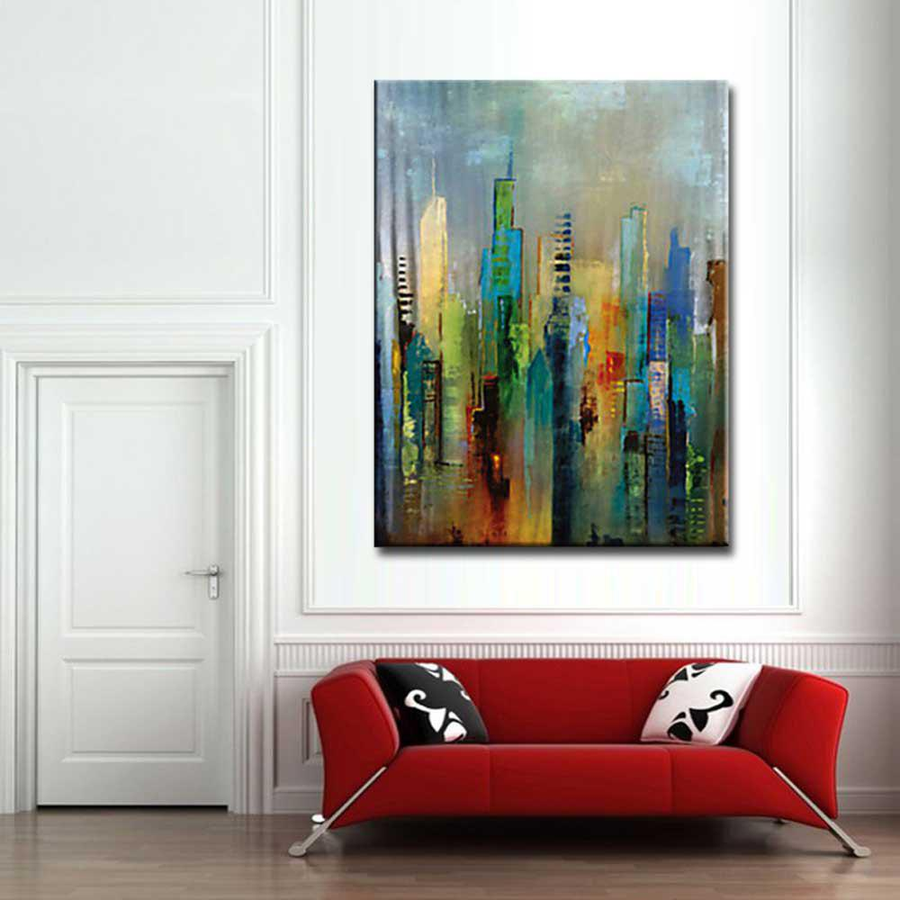 High Quality Hand Painted Abstract Canvas Oil Painting Abstract Art Home Wall Decoration - COLORMIX 24 X 36 INCH (60CM X 90CM)