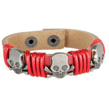 Europe and The United States Trendy Personality Winding Cortex Cortex Bracelet - RED