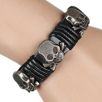 Europe and The United States Trendy Personality Winding Cortex Cortex Bracelet - BLACK