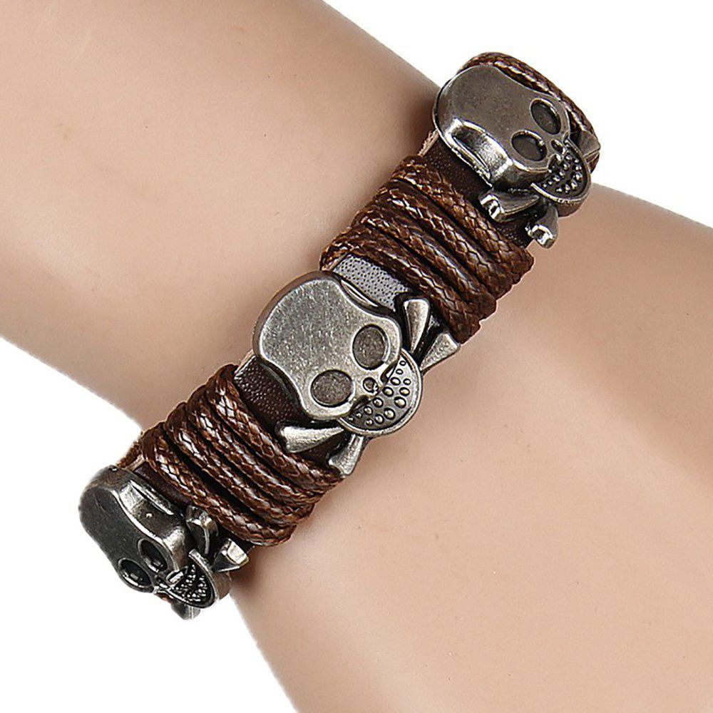 Europe and The United States Trendy Personality Winding Cortex Cortex Bracelet - BROWN