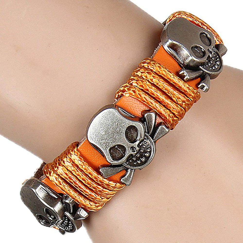 Europe and The United States Trendy Personality Winding Cortex Cortex Bracelet - ORANGE