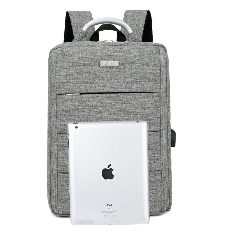 Waterproof Men Laptop Backpack Business Computer Backpack rechargeable Bag 15.6 Inch Multifunction Bag Backpacks - GRAY