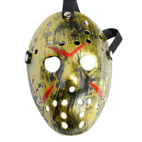 Halloween Masquerade Mask Horror Resin Christmas - GOLDEN
