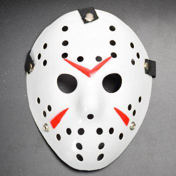 Halloween Masquerade Mask Horror Resin Christmas - WHITE WHITE