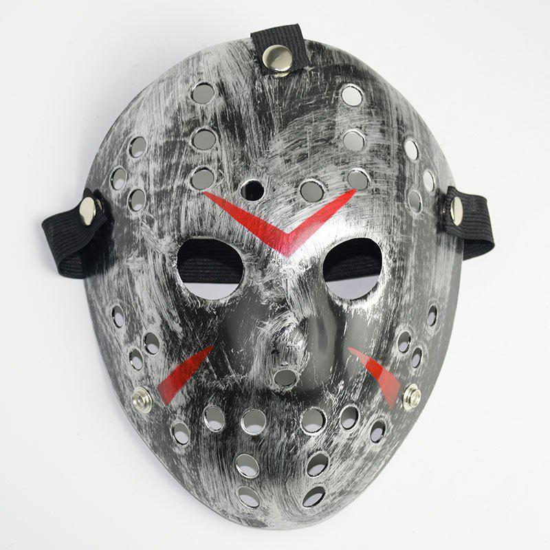 Halloween Masquerade Mask Horror Resin Christmas - SILVER
