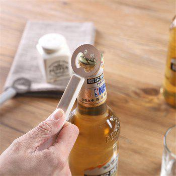 Cute Smiling Face Beer Opener Bottle Portable Stainless Steel Kitchen Gadgets Tools Can For Kids Gifts - BEIGE
