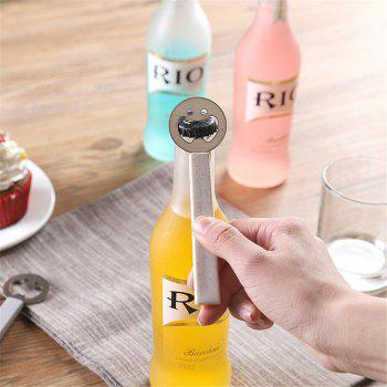 Cute Smiling Face Beer Opener Bottle Portable Stainless Steel Kitchen Gadgets Tools Can For Kids Gifts - BEIGE BEIGE