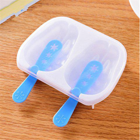 Super Good Quality Rabbit Popsicle Ice Cream Popsicle Mold Ice Box Kitchen Gadgets Snowman Ice Trays - BLUE