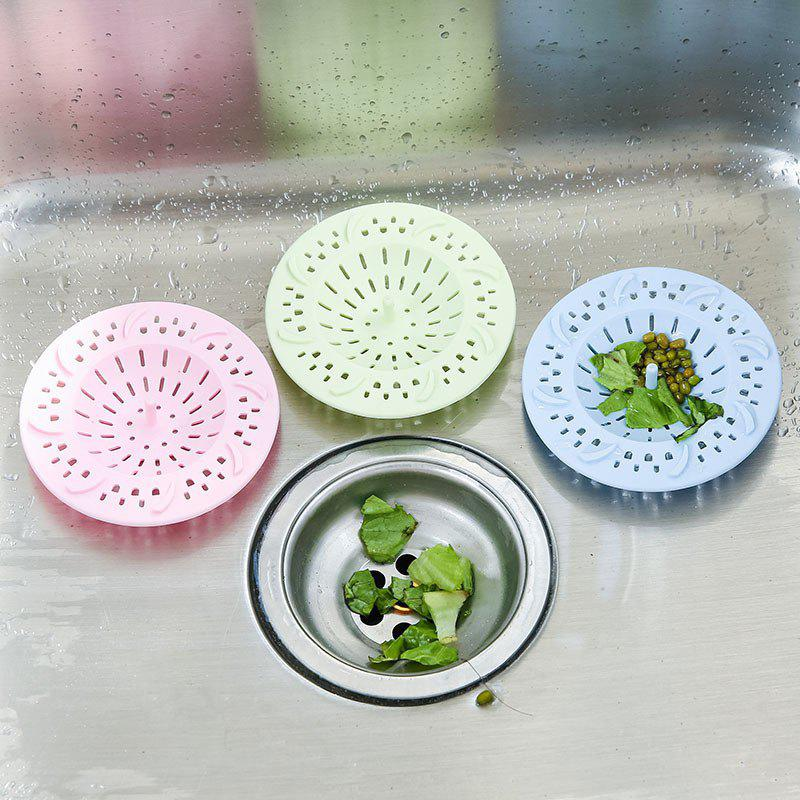 Creative Multifunction Portable Kitchen Bathroom Floor Silicone Hair Sink Filter Sewer Outfall Drain Cover - PINK