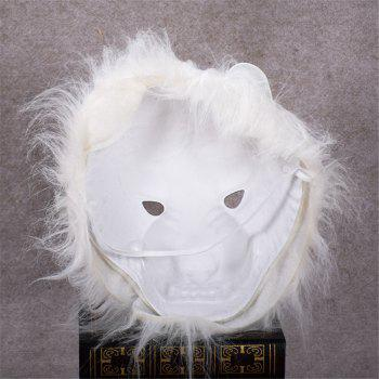 Mane Latex Mask Creepy Animal Tiger/Lion/Monkey/ Partern Full Face Halloween Costume -  WHITE