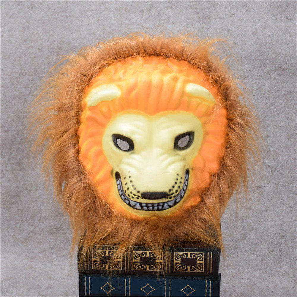 Mane Latex Mask Creepy Animal Tiger/Lion/Monkey/ Partern Full Face Halloween Costume - YELLOW