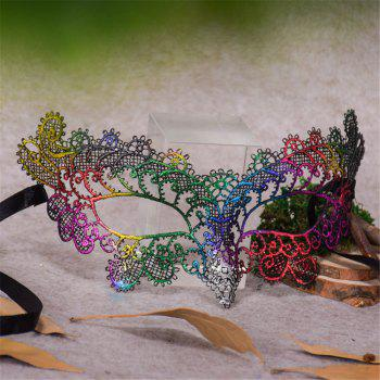 Sexy Halloween Colorful Lace Goggles Nightclub Fashion Queen Female Sex Eye Masks for Masquerade Party Ball Mask - COLOUR COLOUR
