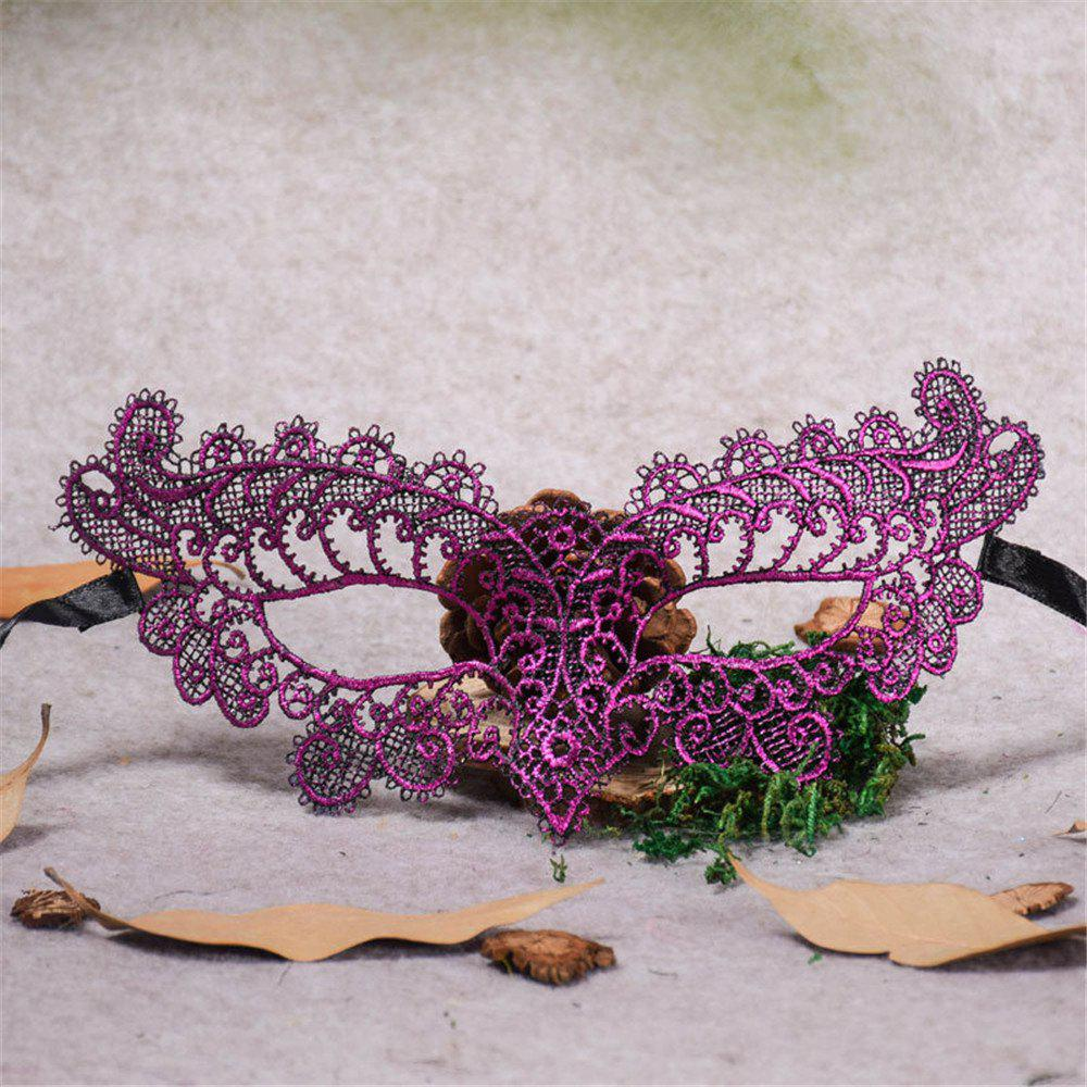 Sexy Halloween Colorful Lace Goggles Nightclub Fashion Queen Female Sex Eye Masks for Masquerade Party Ball Mask - PURPLE