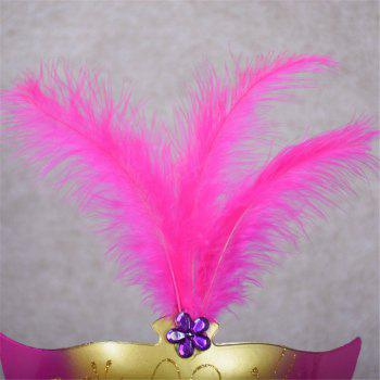 New Party Masquerade Masks Halloween Christmas Feather Mask Fashion Women Sexy Half Face Masked -  PINK