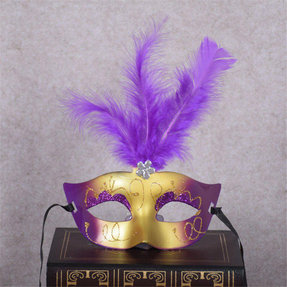 New Party Masquerade Masks Halloween Christmas Feather Mask Fashion Women Sexy Half Face Masked - PURPLE