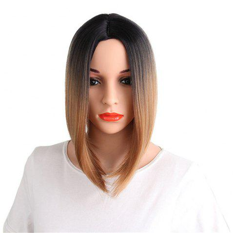 CHICSHE Ombre Blue Wig Synthetic Hair Short Bob Straight Hair - 3