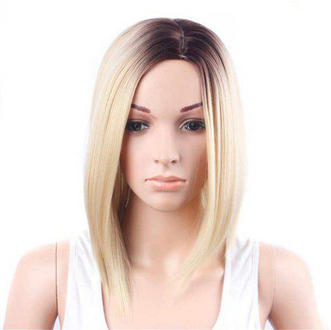 CHICSHE Ombre Blue Wig Synthetic Hair Short Bob Straight Hair - 5