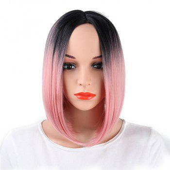 CHICSHE Ombre Blue Wig Synthetic Hair Short Bob Straight Hair - 4