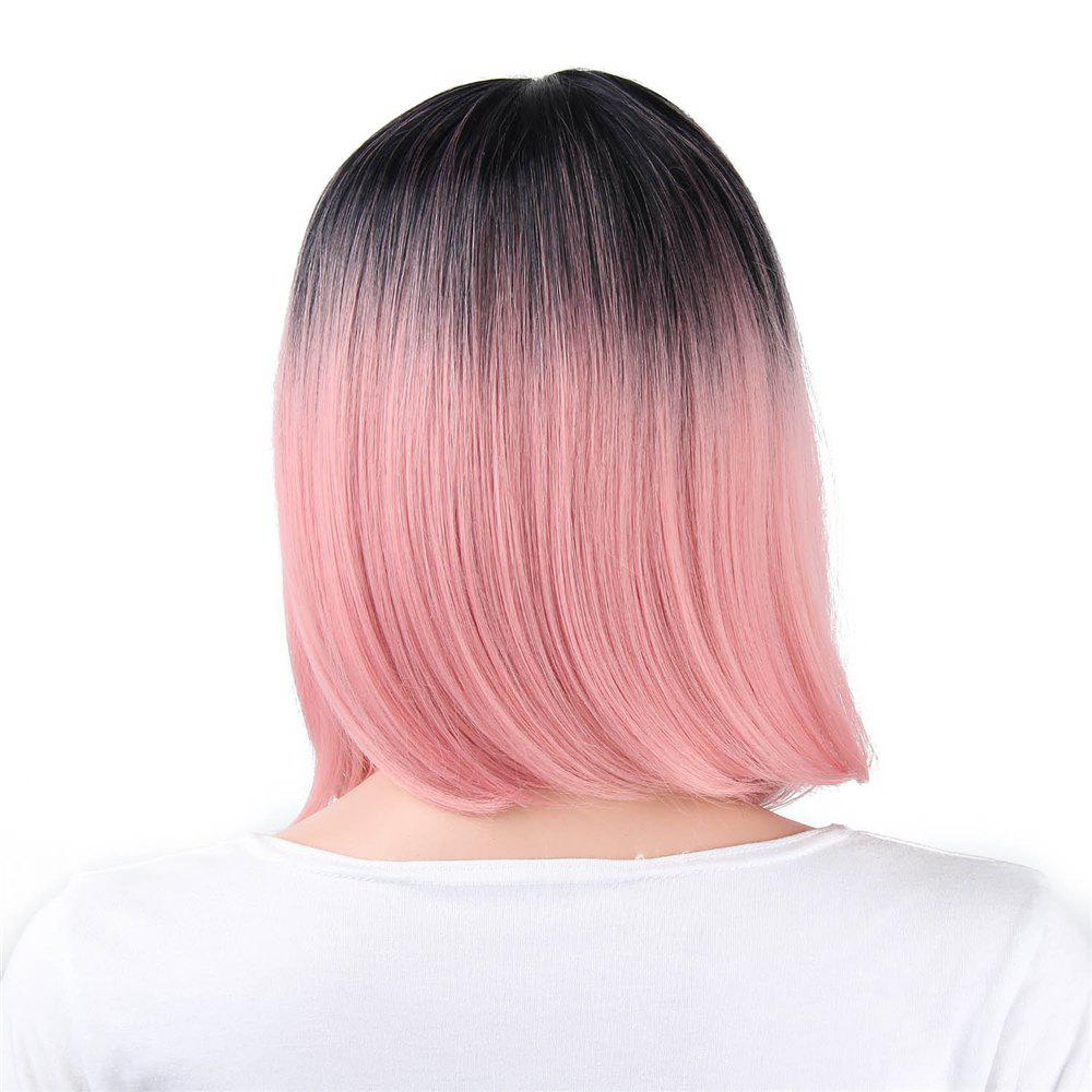 CHICSHE Ombre Blue Wig Synthetic Hair Short Bob Straight Hair -