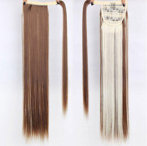 CHICSHE 16 Colors Available High Temperature Fiber Synthetic Hair Wraparound Ponytail Extensions for Women - 12#