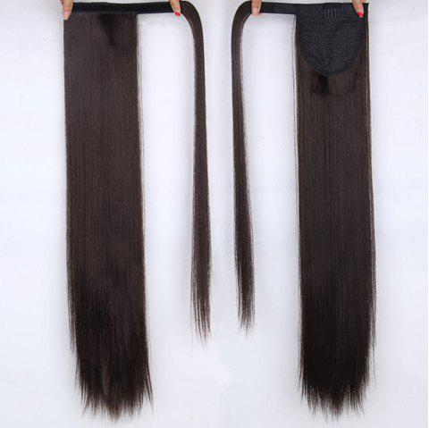 CHICSHE 16 Colors Available High Temperature Fiber Synthetic Hair Wraparound Ponytail Extensions for Women - 4