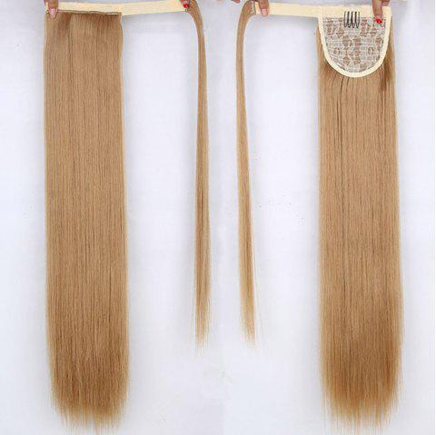 CHICSHE 16 Colors Available High Temperature Fiber Synthetic Hair Wraparound Ponytail Extensions for Women - 27