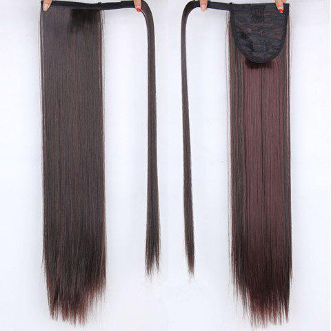 CHICSHE 16 Colors Available High Temperature Fiber Synthetic Hair Wraparound Ponytail Extensions for Women - 233