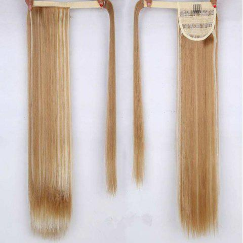 CHICSHE 16 Colors Available High Temperature Fiber Synthetic Hair Wraparound Ponytail Extensions for Women - 27H613