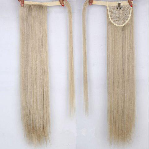 CHICSHE 16 Colors Available High Temperature Fiber Synthetic Hair Wraparound Ponytail Extensions for Women - 24 613